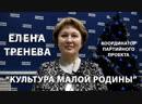 Координатор партийного проекта Культура малой Родины Елена Тренева