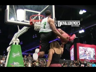 BEST Dunk Contest Dunk EVER?? Young Hollywood OVER Girl in Chair!