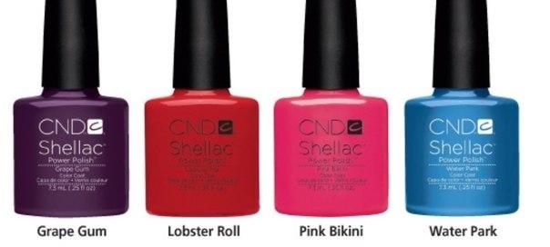 Shellac cnd лето 2013 cnd shellac pink bikini cnd shellac lobster
