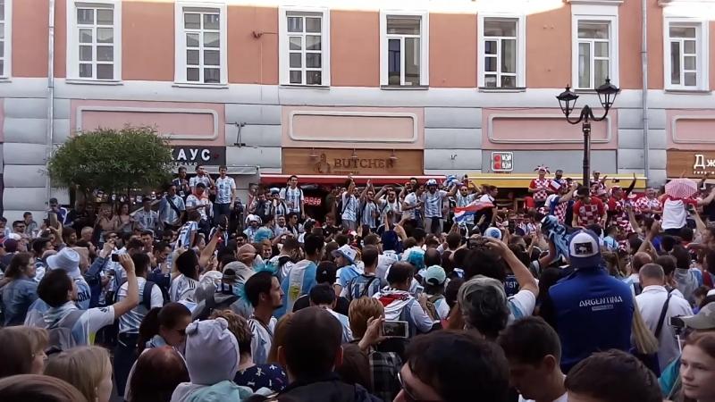 Аргентина - Хорватия 0-3 За 3,5 часа до игры. 2018.06.21_17-30-06