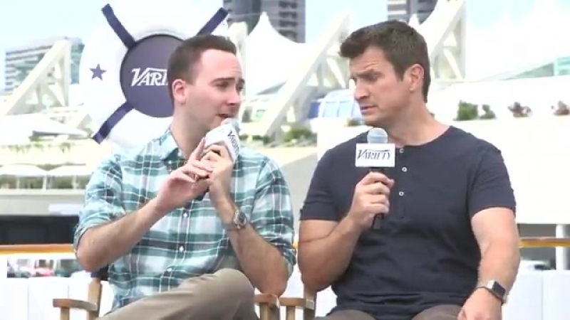 Director @Allan Ungar used his own money to fund the Uncharted fan film with @NathanFillion mXlkpZViRF SDCC2018