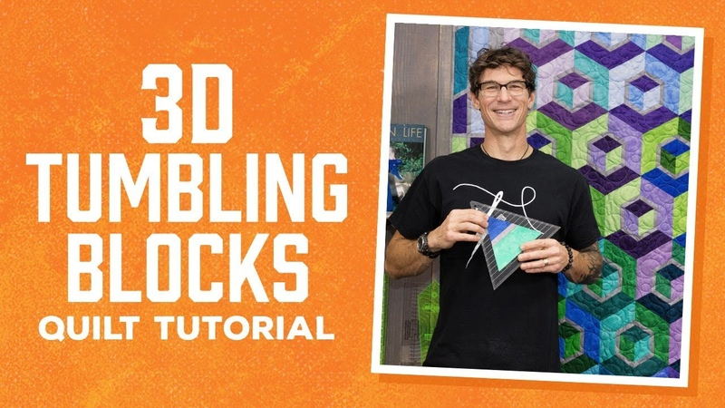 Make a 3D Tumbling Blocks Quilt with Rob