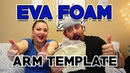 How to Create EVA Foam Armor Patterns - Forearm