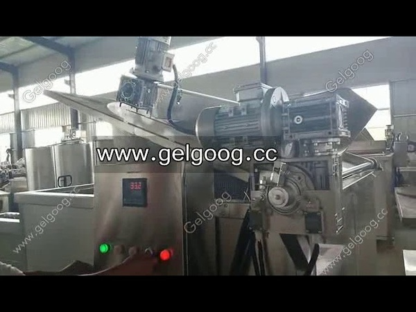 Automatic Discharge Oil Fryer Machine Operation Video