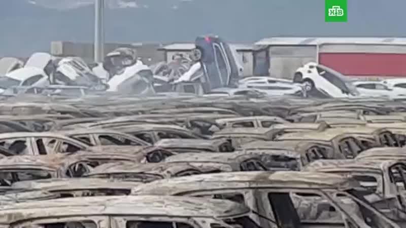 Dans la ville italienne de Savone, un incendie a détruit des centaines de Maserati