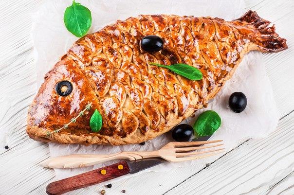 Пирог в форме рыбы рецепт с фото