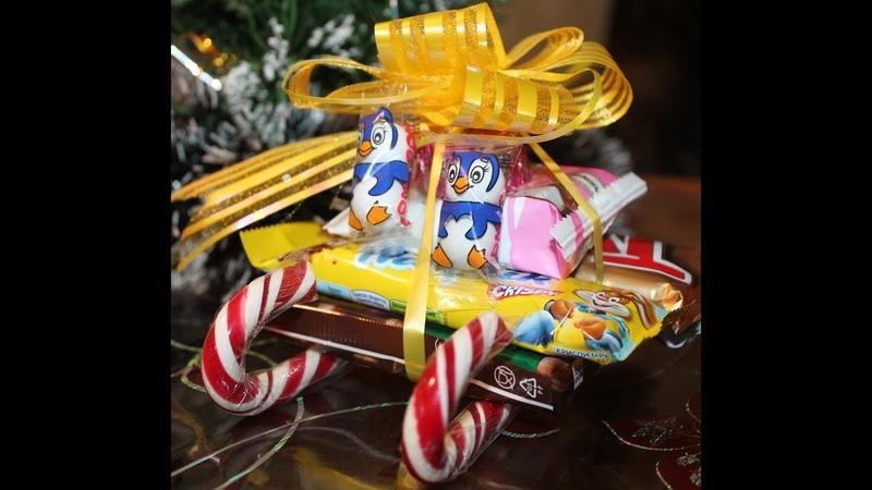 Подарки своими руками.Сладкие саночки своими руками Новогодний DIY