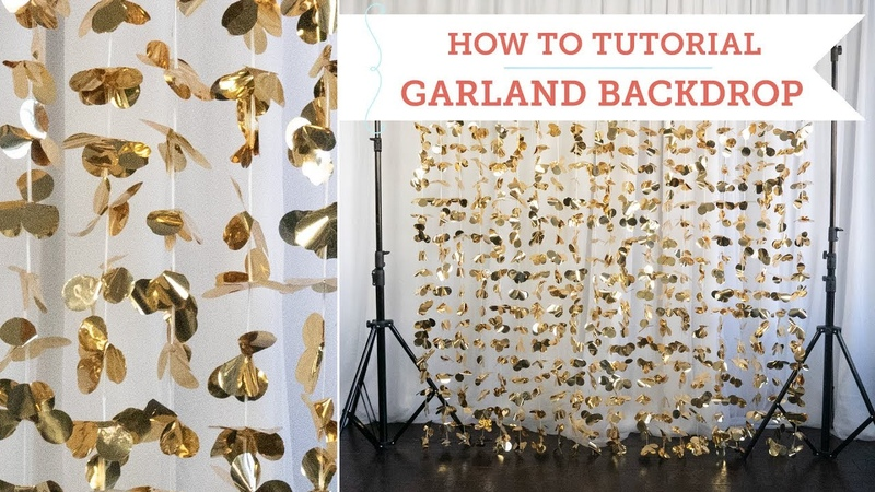 How To: Set Up a Flower Garland Backdrop Curtain | BalsaCircle.com