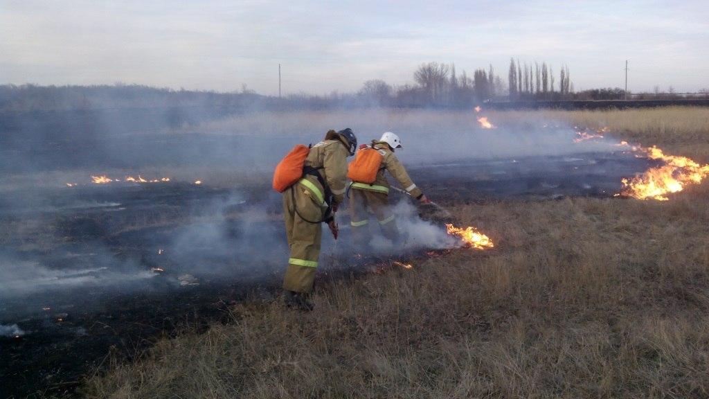 За эти выходные пожарные Ростовской области выезжали 13 раз на тушение ландшафтных пожаров