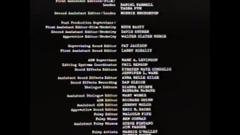 Movie End Credits 484 The Talented Mr. Ripley