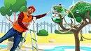 Vidéo de Master Toc-Toc № 7. Les Robocars : Hely accroché à l'arbre