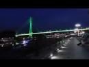 Ночная набережная Тюмени Мост влюбленных