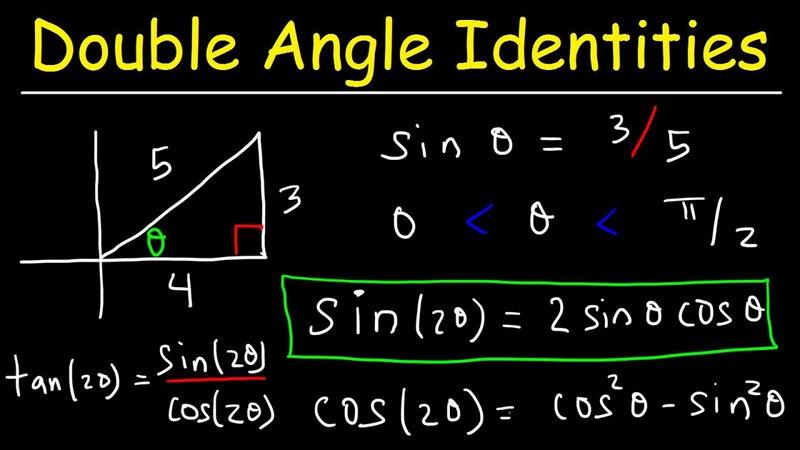 Double Angle Identities Formulas of Sin, Cos Tan - Trigonometry