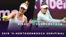 Alison Riske vs. Veronica Kudermetova | 2019 Libema Open Semifinal | WTA Highlights