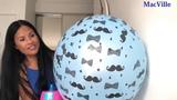Blue Moustache Balloons
