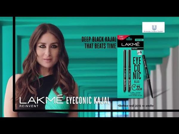 Kareena Kapoor Khan Lakme Eyeconic Kajal New TV Ad | The Deep Black Kajal That Beats Time