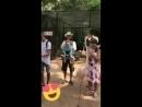 Невероятная птица танцует лезгинку