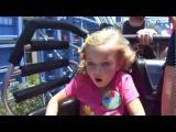 Lily rides Goofy's Sky School