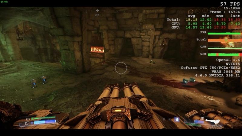 Doom пробуем ультра настройки на gtx 750 ( уже устаревшая затычка уровня gt 1030 или хуже )