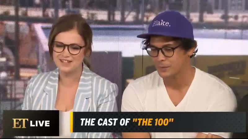VIDEO Bob and Elizas interview with @etnow at SDCC2019 part two Beliza The100