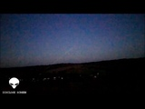 Guy points laser at UFO, It responds by flashing then vanishes (Disclose Screen)