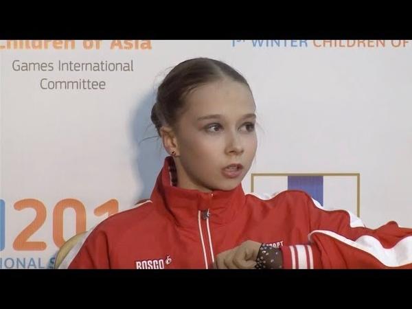 🥉 Ксения Синицына - Children of Asia Games Ladies FS