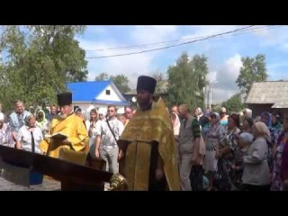 Молебен в домовой церкви Святых Царственных Страстотерпцев в поселке Сонково
