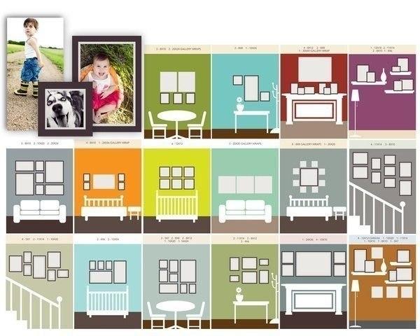 Как развешивать фотографии на стенах