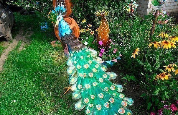 Сад своими руками из бутылок