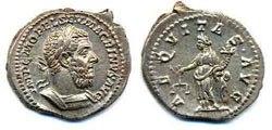 Древнеримские женщины-богини, монеты, Эквитас