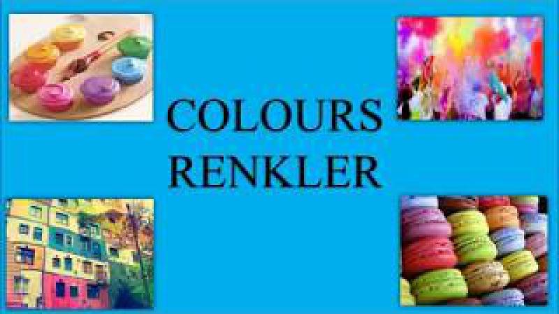 Türkçe Renkler Colours In Turkish