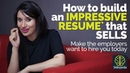 How to build an impressive Resume CV that sells Resume writing tips skills for a Job Interview