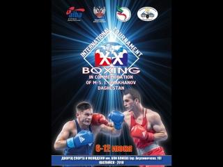 XX International Bxoing Tournament Umakhanova 2018 Kaspiysk Day 1 Ring A