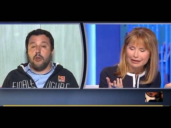 Matteo Salvini B Asfaltatura a Lilli Gruber Il Privato e Pubblico 09 04 2015