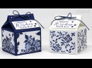 Blue Floral Fat Milk Carton using Stampin Up! Floral Boutique DSP