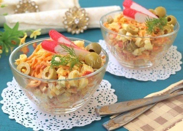 морковь по корейски крабовые палочки салат рецепт