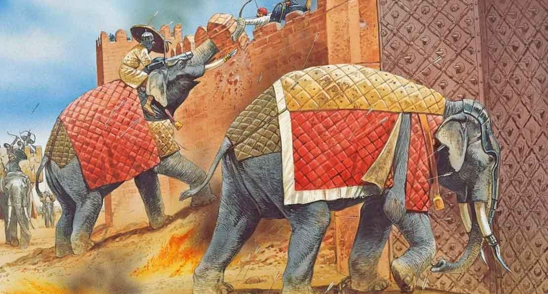 Боевые слоны при штурме