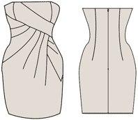 Вікройка платья коктейльного