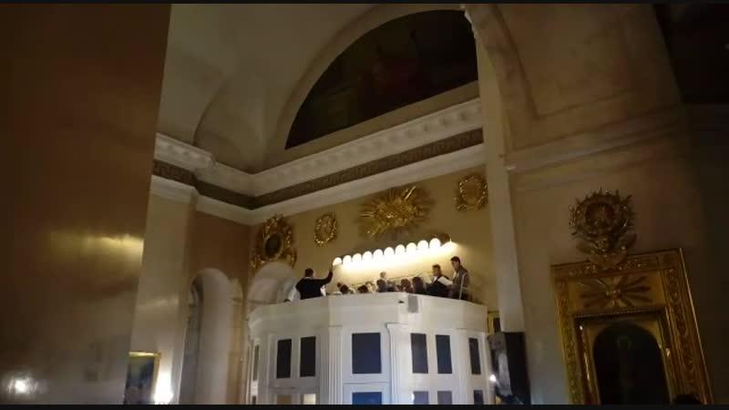 Отрывок всенощного бдения в малый престольный праздник Спасо-Преображенского собора - свт Климента и Петра