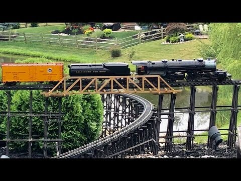 Huge Private Model Railroad! G Scale Gauge Outdoor Layout!