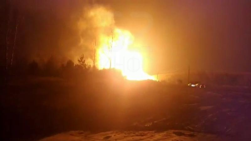 Горящий газопровод в Рязанской области