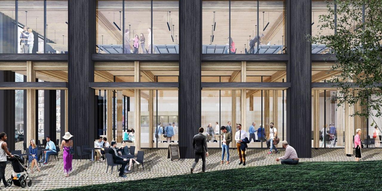 Michael Green Architecture/Офисное здание на брегу Newark, New Jersey