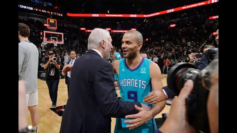 Tony Parker's Emotional Return To San Antonio | January 14, 2019 NBANews NBA Spurs TonyParker Hornets