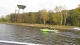 ..а на яхте по Москве-реке гораздо быстрее чем в ластах)) GVS
