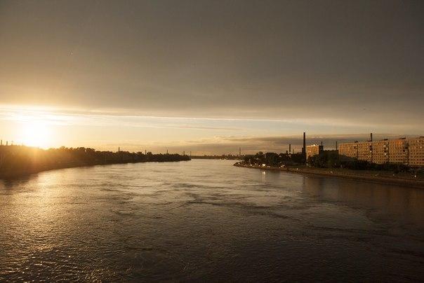 река, фото Невы, Никон 18-70, закат