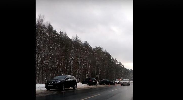 На Казанском тракте в Марий Эл произошло массовое ДТП (ВИДЕО)
