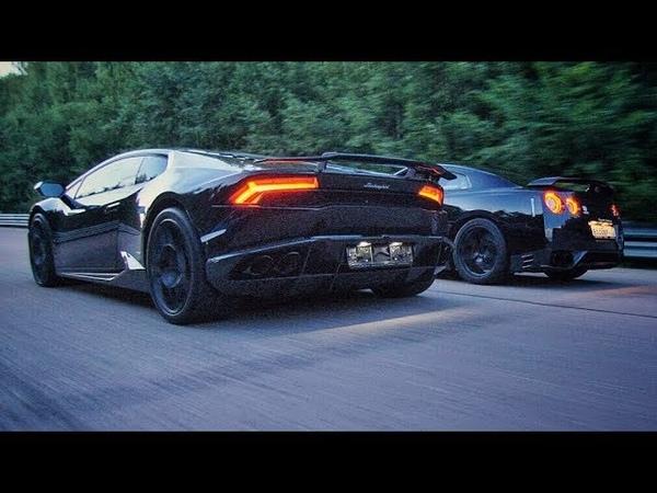 950 л.с. Nissan GT-R vs 780 л.с. Turbo Lamborghini. StuntChamp