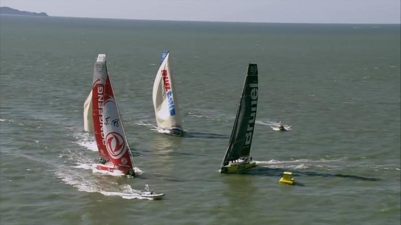 Here's the Volvo Ocean Race Leg-8 Start ...in 137 seconds