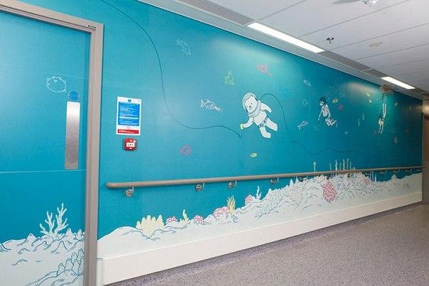 Красочные интерьеры детских больниц GfbMdncR4hQ