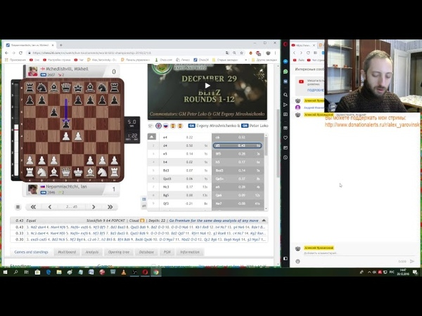 Шахматы с Алексеем Яровинским. Чемпионат мира по блицу